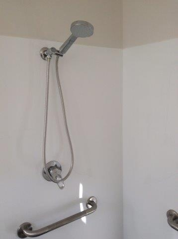 Shower in portable building