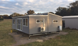 one bedroom, air conditioned, full kitchen granny flat or weekender
